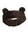 Zwarte hoofdband met oren voor meisjes