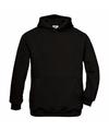 Zwarte katoenmix sweater met capuchon voor jongens