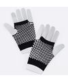 Zwarte korte visnet handschoenen voor volwassenen