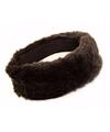 Zwarte pluche hoofdband voor dames