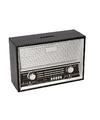 Zwarte radio spaarpot 18 cm