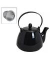 Zwarte theepot met filter 750 ml
