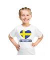 Zweden hart vlag t shirt wit jongens en meisjes