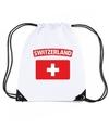 Zwitserland nylon rugzak wit met zwitserse vlag