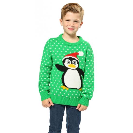 Kersttrui Voor Kinderen.Kersttrui Groen Met Pinguin Voor Kinderen Voor Maar 22 95 Bij