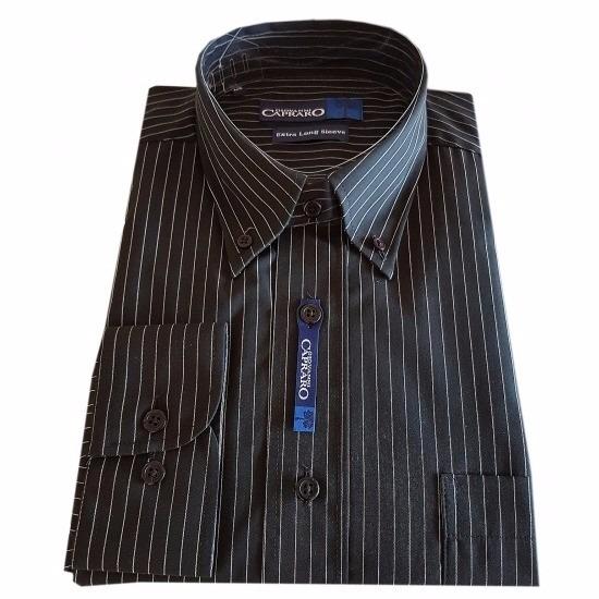 Bij € Zwart Viavoordeel Voor Heren 95 Overhemd Met 39 Krijtstreep Maar PXwOZTkiu