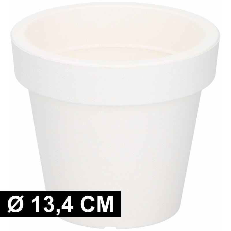 Plastic Bloempot Wit.Kunststof Bloempot Wit 13 Cm Voor Maar 1 95 Bij Viavoordeel