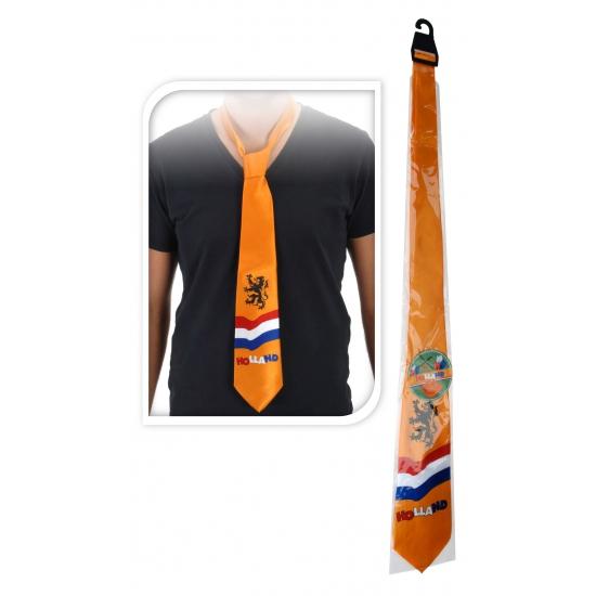 45fd9914c7535c Oranje stropdas met leeuw voor maar € 2.99 bij Viavoordeel