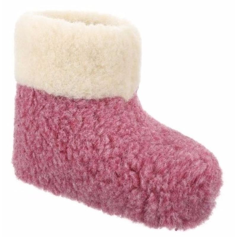 0e307fc14756ce Wollen pantoffels roze voor dames voor maar € 19.95 bij Viavoordeel